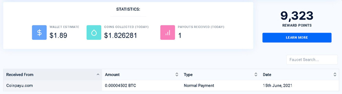 faucetpay payment proof
