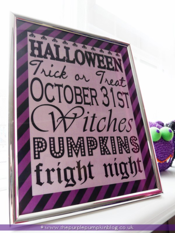 Halloween Subway Art Poster