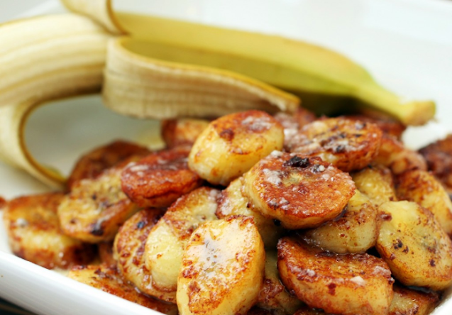 Cinnamon Bananas #healthy #breakfast