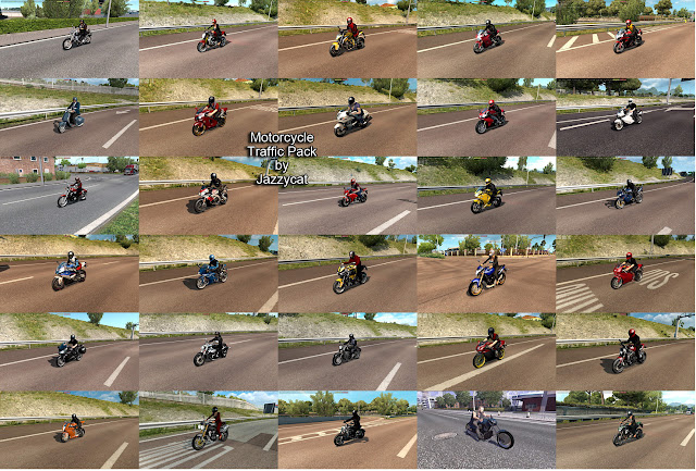ets 2 motorcycle traffic pack v2.4 screenshots 2