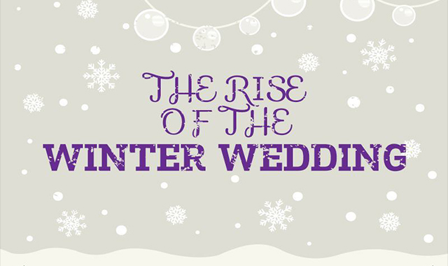 The Rise Of The Winter Wedding #infographic