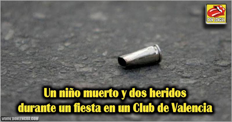 Un niño muerto y dos heridos durante un fiesta en un Club de Valencia