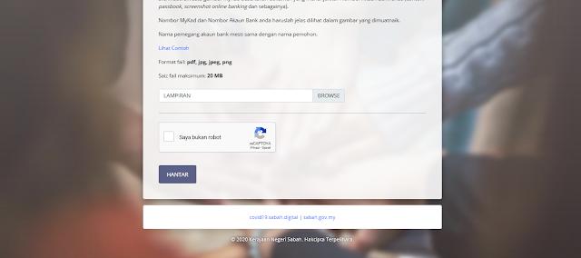 bantuan covid 19 Sabah