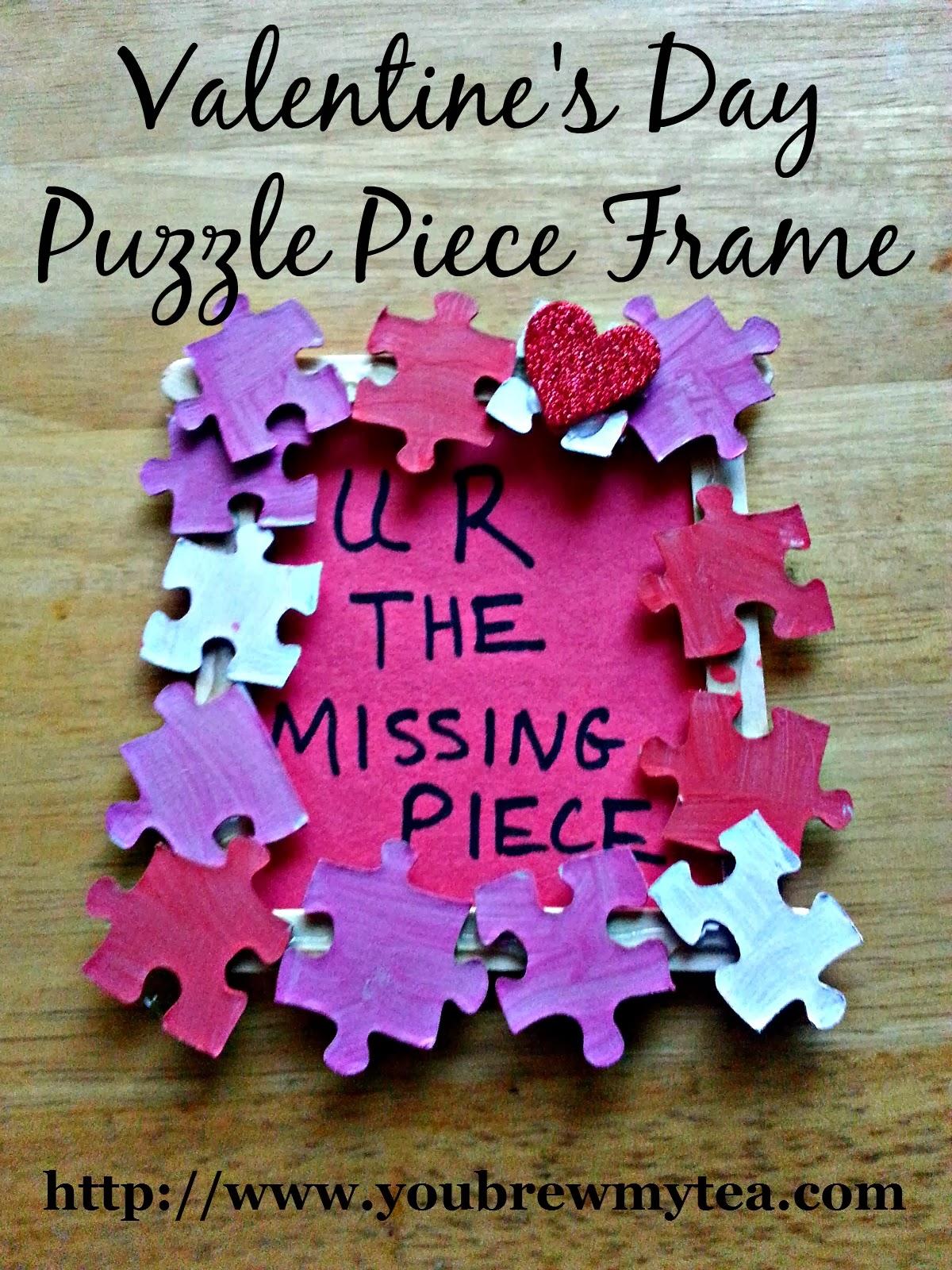 Valentine S Day Puzzle Piece Frame