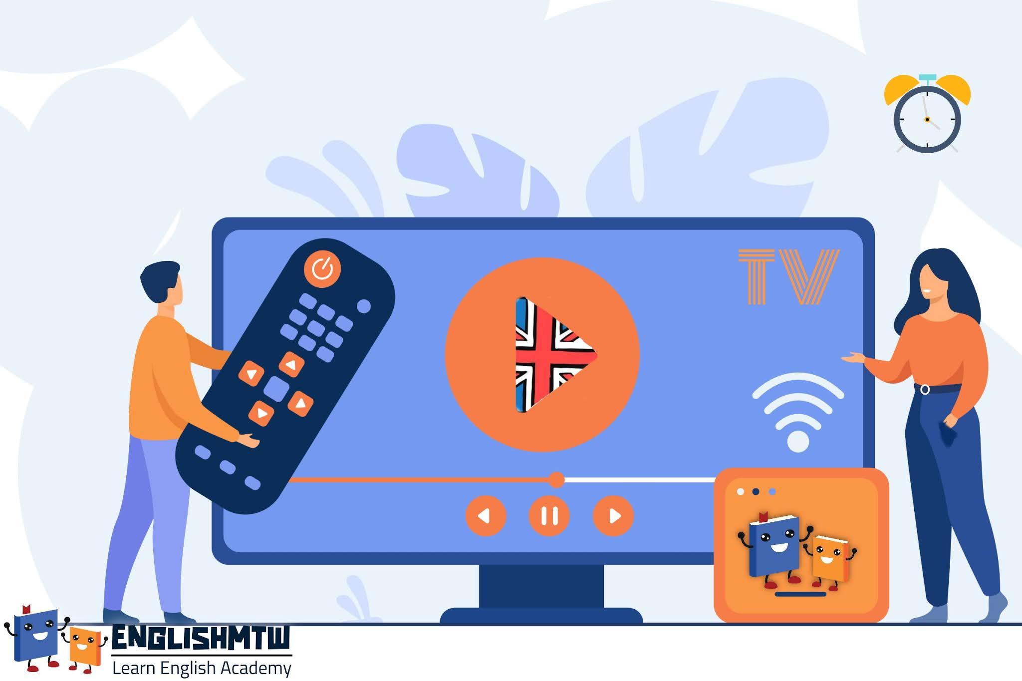 تعلم اللغة الإنجليزية مع مواقع تلفزيونية تم إعدادها لمتعلمي اللغة