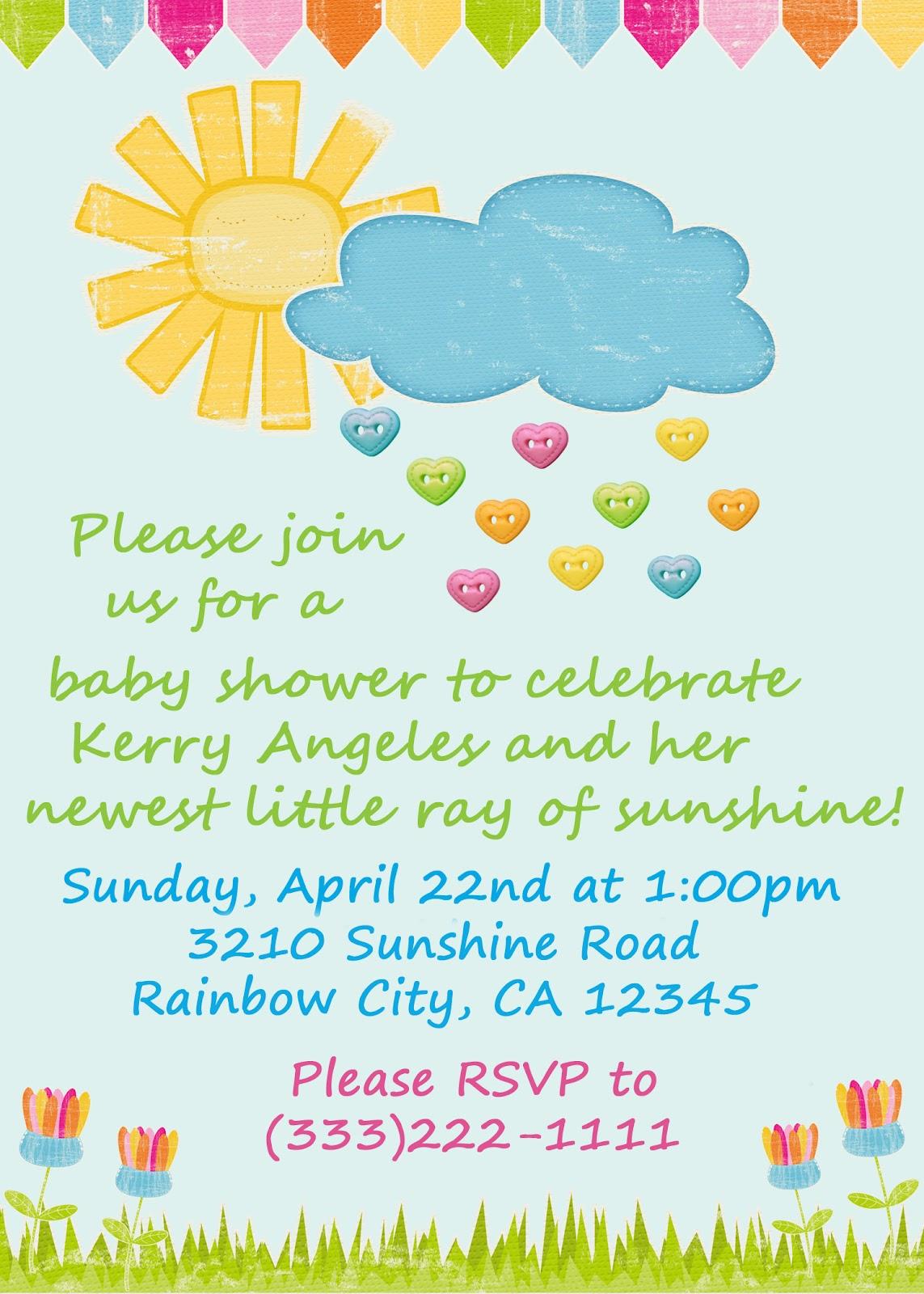 Invitation Ideas Baby Shower