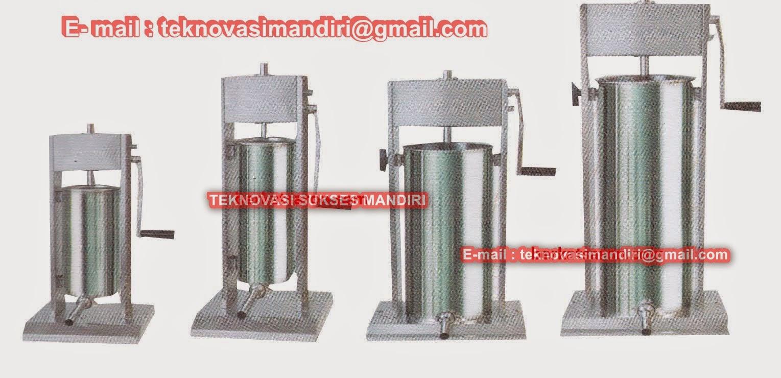 mesin cetak sosis secara manual