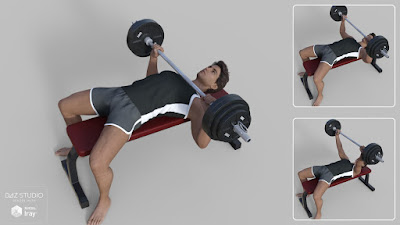 FM Gym Poses: Dumbbells Barbells