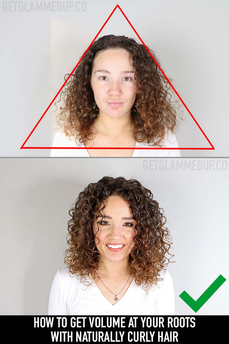 How to Get Volume, Prevent Flat Roots & the Triangle Shape with Curly Hair