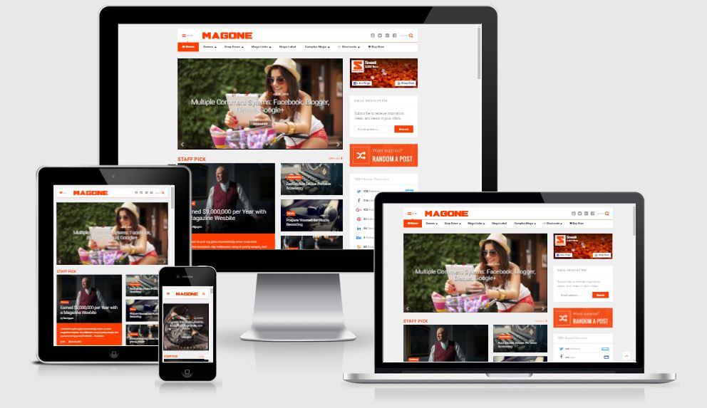 Chia sẻ Template MagOne V6.6.0 Responsive News
