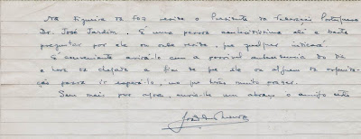 Otra Carta de Joâo da Moura  a Ángel Ribera, 1954 (2)