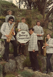A rare colour shot of The Quincy Conserve c.1969 Dennis Mason, Malcolm Hayman, Raice McLeod, Rufus Rehu, Dave Orams and Johnny McCormick