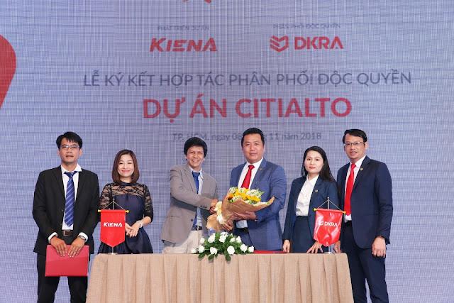 Công ty Cổ phần Kiến Á và Công ty Cổ phần DKRA Việt Nam  ký kết hợp tác phân phối độc quyền dự án CitiAlto