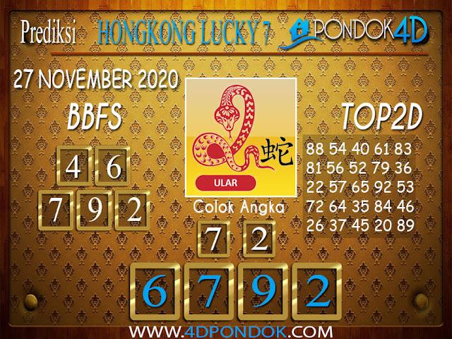 Prediksi Togel HONGKONG PONDOK4D 27 NOVEMBER 2020
