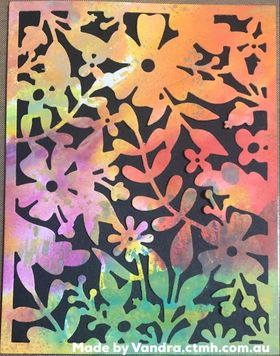 #CTMHVandra, Colour Dare Challenge, color dare, Distress Oxide, smooshing, thin cuts, floral, autumn, ranger distress oxide inks, spritz, #ctmhthincuts, all purpose mat,