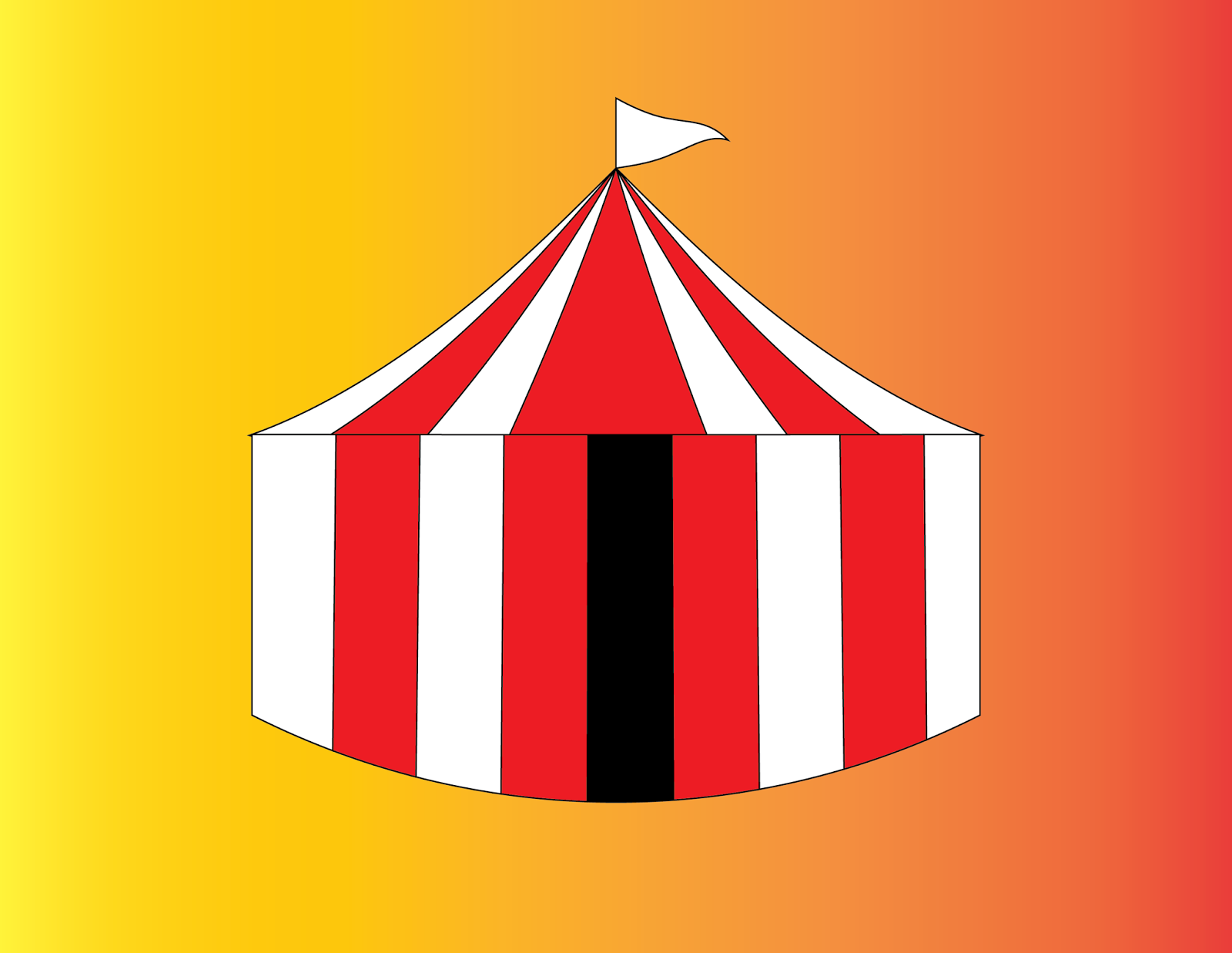 Circus Tent & Andrew Huizar Computerized Graphic Design: Circus Tent