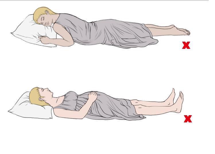 posisi tidur ibu mengandung yang salah