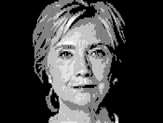 ASCII Art - Hillary Diane Rodham Clinton - Seni ASCII