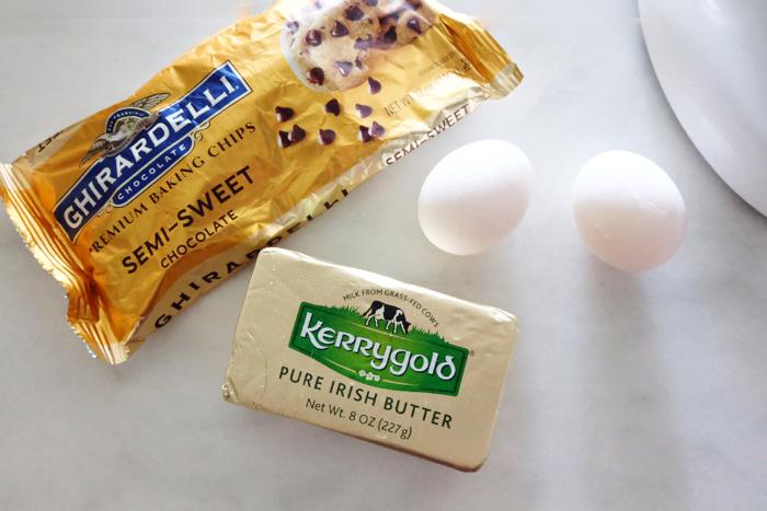 prepping cookie ingredients