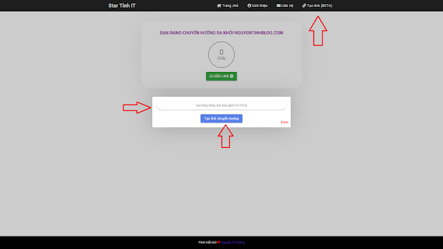 Share template xác nhận chuyển hướng liên kết ( Redirect URL ) cho blogspot cực đẹp