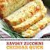 Savory Zucchini Cheddar Quick Bread #zucchini #quickbread