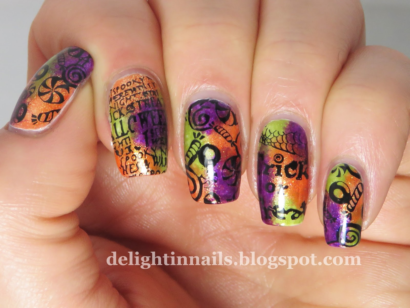 Delight In Nails: 40 Great Nail Art Ideas - Orange, Purple ...