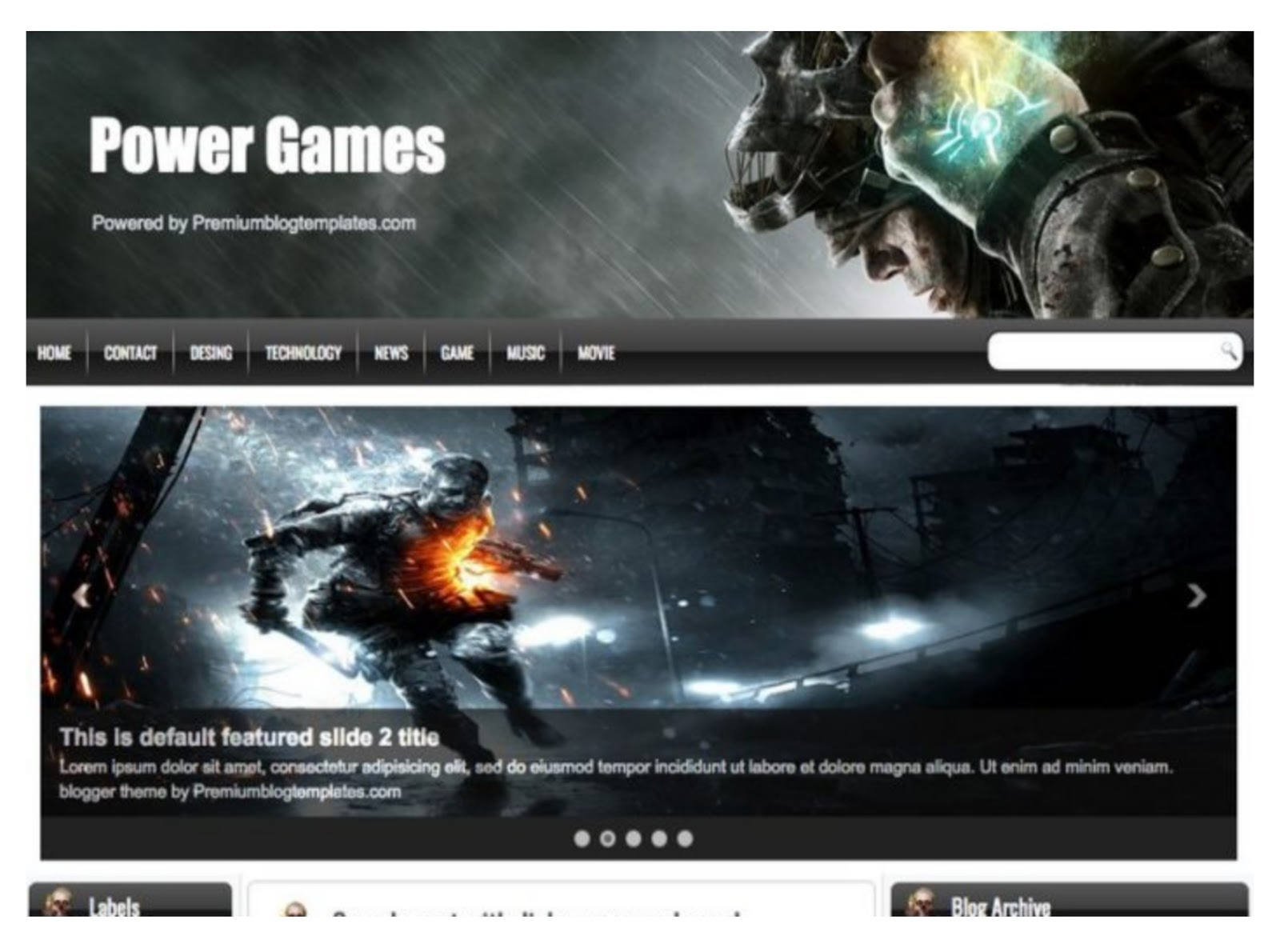 Power Games Blogger Template