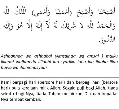 Doa Doa Al Matsurat Al Mathurat Atau Al Makhturat Yang
