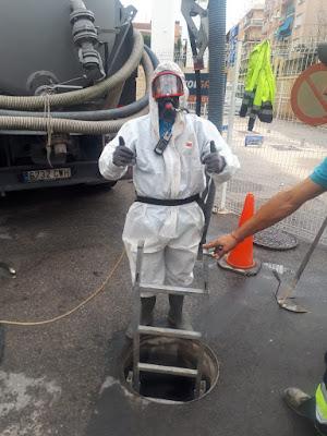 trabajos de limpieza en espacios confinados en Alicante DESATASCOS EL TIBURÓN