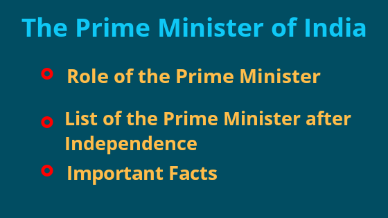 The Prime Ministers of India