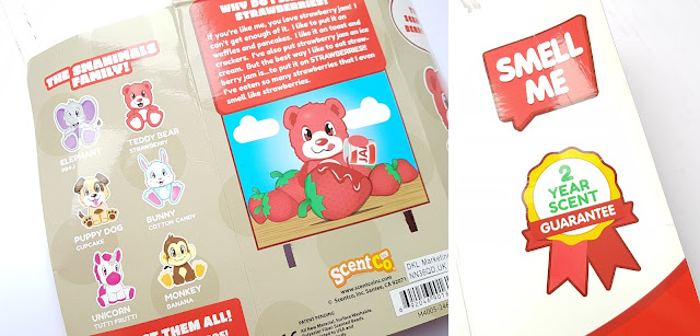 Scentco's Smanimals Strawberry Teddy Bear information