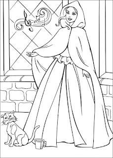 Ausmalbilder Barbie Prinzessin und der Bettler