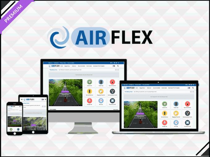 Air Flex - Magazine & News Blogger Template - Responsive Blogger Template