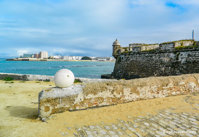 Fortaleza de Santa Catalina, nas Muralhas de Cádiz, Andaluzia