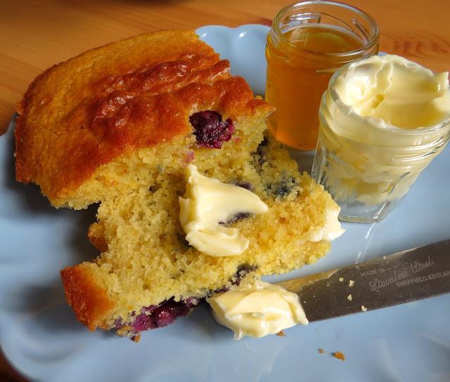 Blueberry & Vanilla Breakfast Cornbread