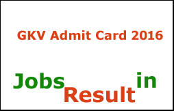 GKV Admit Card 2016