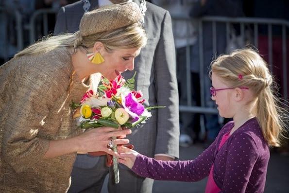 Queen Maxima of The Netherlands attends the award ceremony of the Geuzen Medal at the Big Church (Grote Kerk) in Vlaardingen