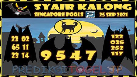 Syair Kalong Togel Singapura Sabtu 25-09-2021