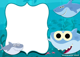 Baby Shark Party: Free Printable Invitations.