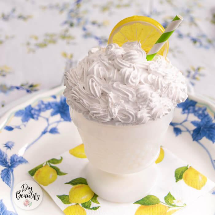 faux whip citrus dessert