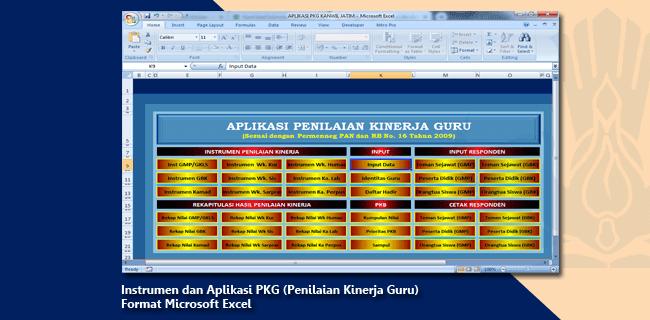 Instrumen dan Aplikasi PKG (Penilaian Kinerja Guru) Format Microsoft Excel