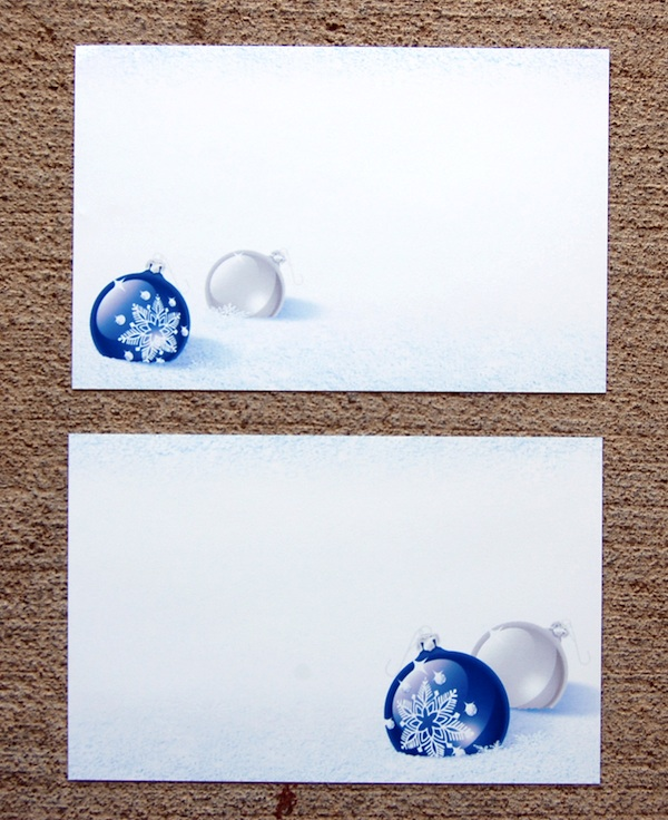 Cobalt Christmas Postcards from Paper Direct front and back design