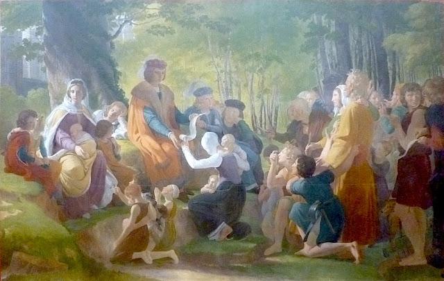 Saint Louis sous son chêne à Vincennes