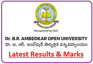 Dr BR Ambedkar Open University Result 2021