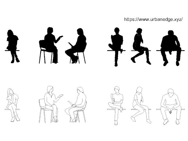 Human People sitting cad block free download - 10+ free cad blocks