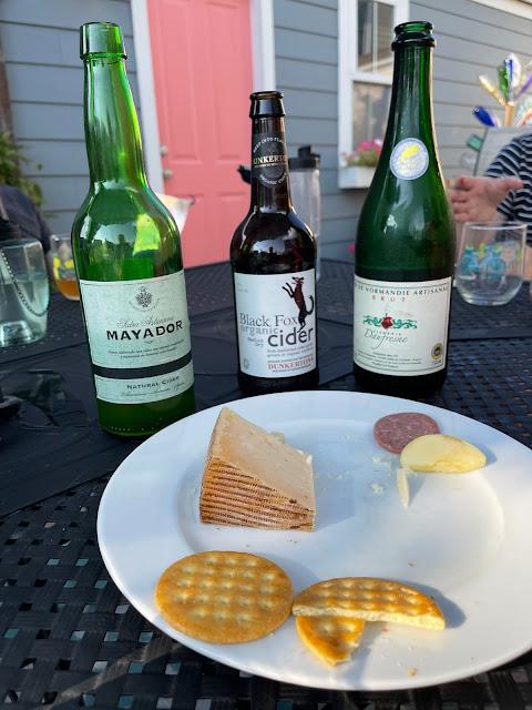 Three green bottles of cider
