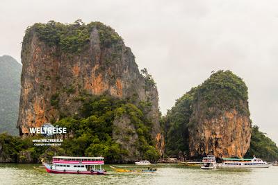 Die berühmte Insel Khao Phing Kan, Phan Nga Bay, Thailand.