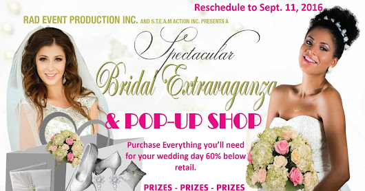 BRIDAL SHOW EXTRAVAGANZA _2016 Palm Beach County Convention Center - DATE CHANGE / SEPT. 11, 2016