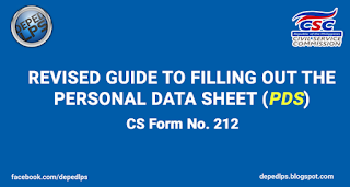 GUIDE TO FILLING OUT THE PERSONAL DATA SHEET (PDS)