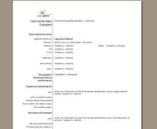 SCARICARE CURRICULUM VITAE ET STUDIORUM FORMATO EUROPEO